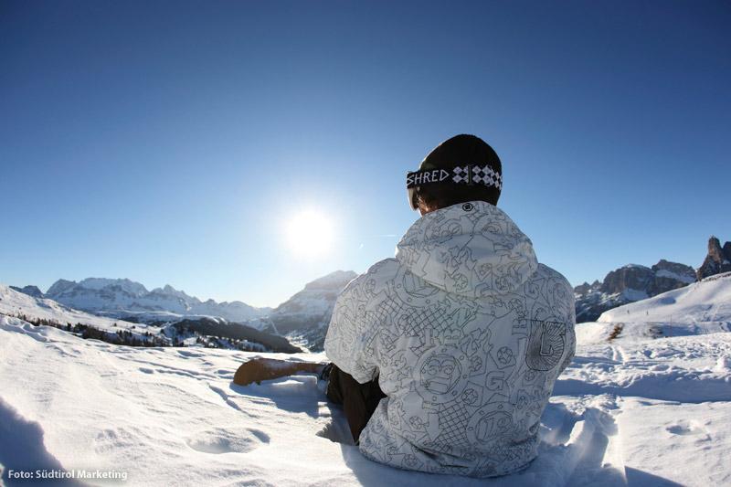 Erster Schnee in den Dolomiten