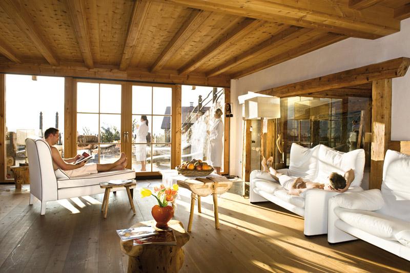 Der Ruheraum im Badehaus - einmalig in Südtirol