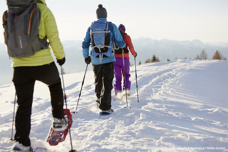 Im Winter ist das Wanderhotel Lüsnerhof Spezialist für Schneeschuhwandern in Südtirol