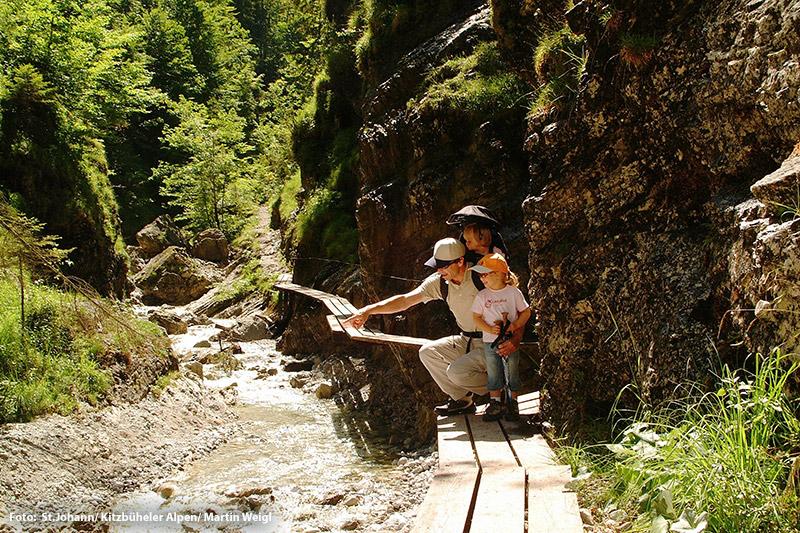 Naturerlebnis Grießbachklamm in Erpfendorf in Tirol