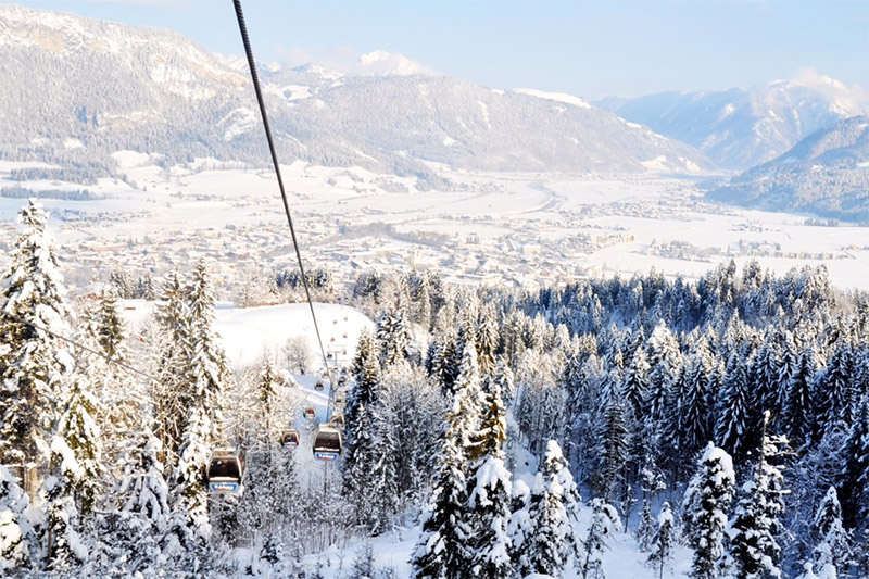 Kitzbüheler Alpen - Skigebiet St. Johann in Österreich