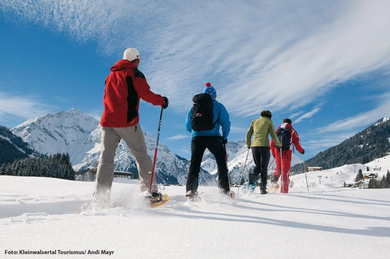 Geführte Schneeschuhwanderungen im Kleinwalsertal