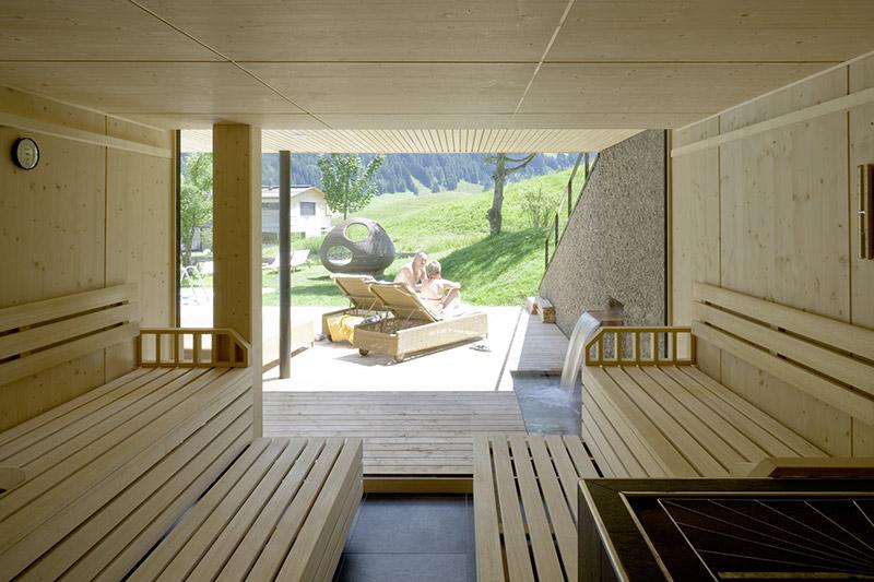 Finnische Sauna mit Panoramafenster