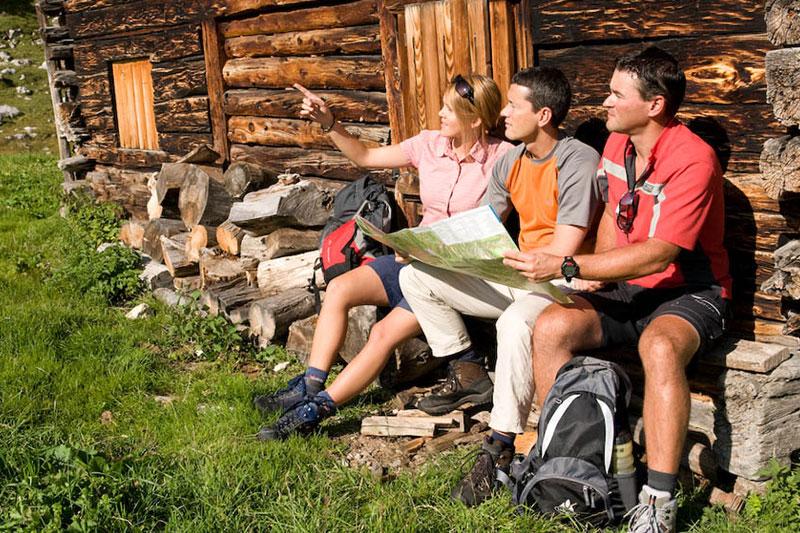 Almwanderung im Pustertal in den Dolomiten