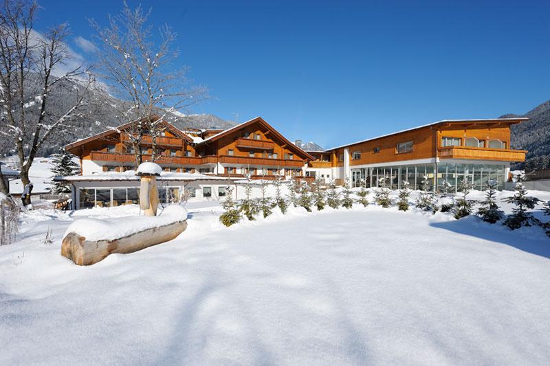 Idylle kommt auf im Winterurlaub in Südtirol im Hotel Stoll