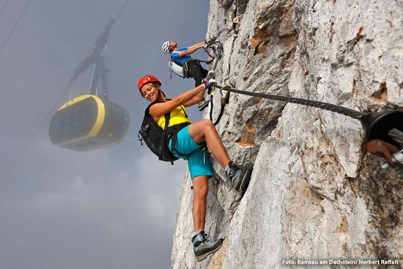 Bergsteigen und Klettern am Dachstein
