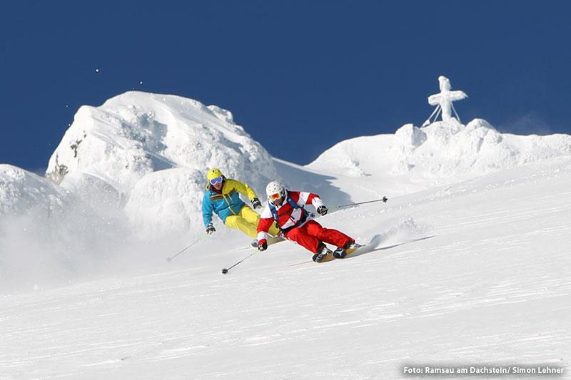 Skigebiet Ramsau - Hochschwarzeck in der Region Berchtesgardener Land in Oberbayern