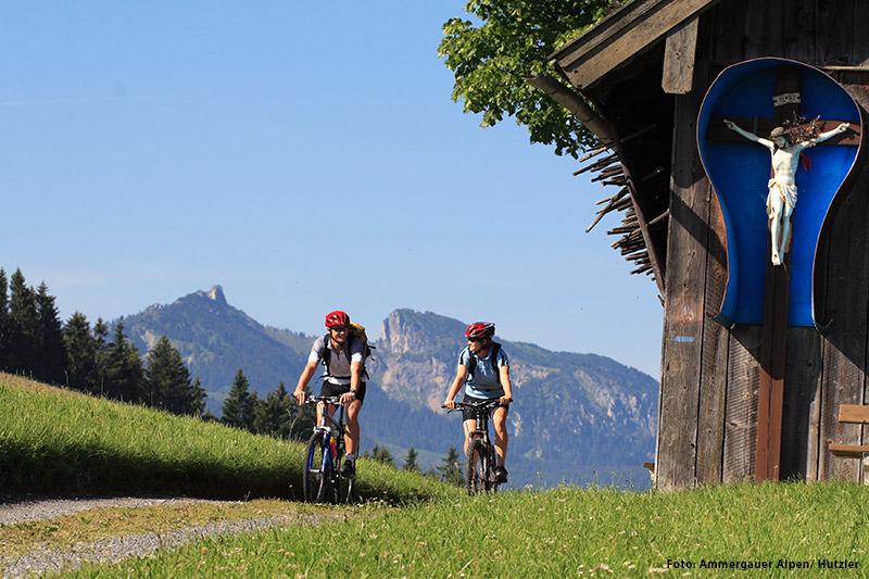 Radfahren und Mountainbiken Ammergauer Alpen