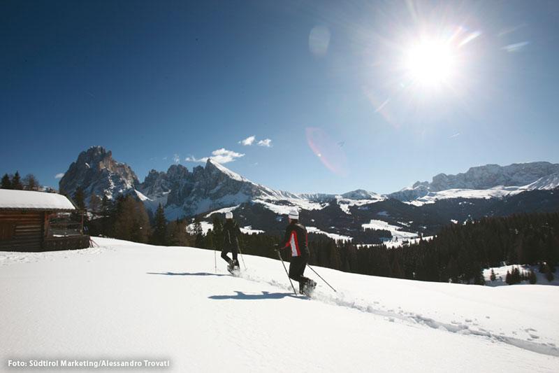 Schneeschuhwandern unterm Schlern