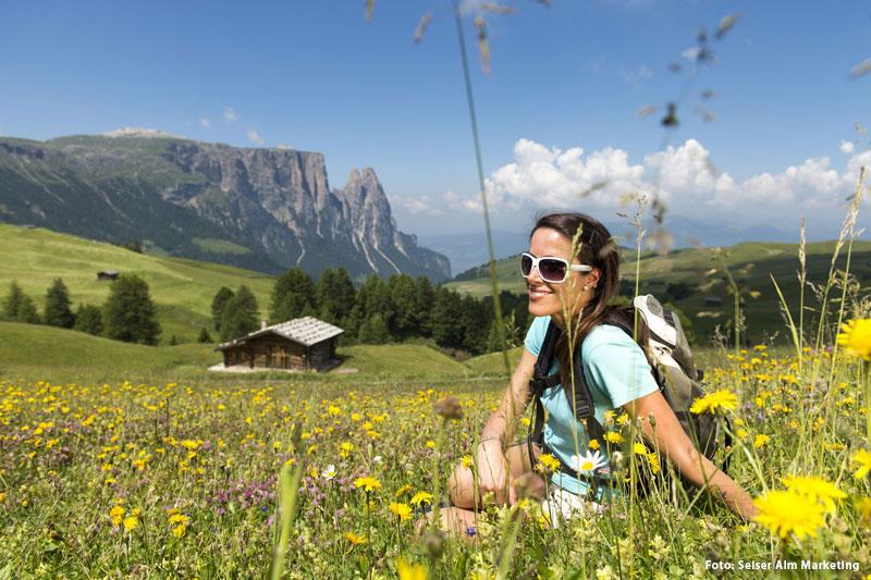 Erholungsurlaub auf der Seiser Alm in Südtirol