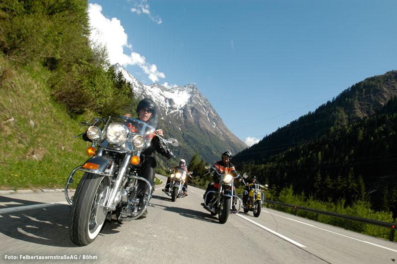 Motorradfahren auf der Felbertauernstraße