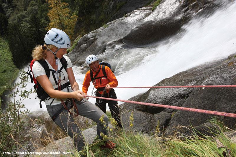 Klettern am Partschinser Wasserfall