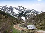 Campen in den Alpen