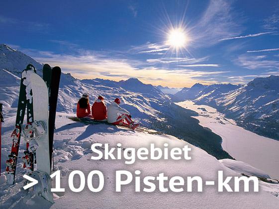 Winter mehr als 100 Pisten km