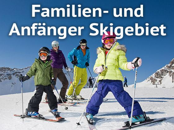 Familien- und Anfänger Skigebiet