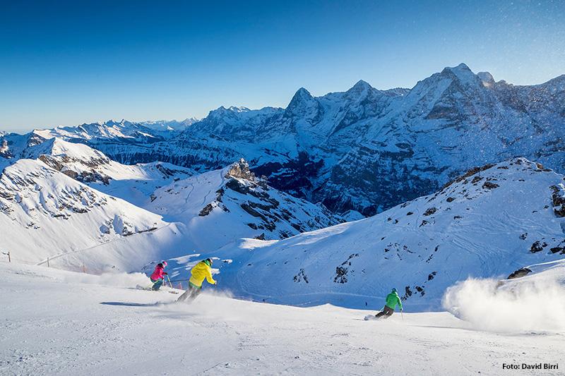 Skigebiet Mürren-Schilthorn in der Jungfrauregion im Berner Oberland - Schweiz