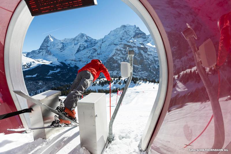 Skimovie im Skigebiet Mürren - Schilthorn