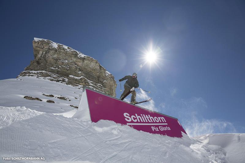Skyline Snowpark Skigebiet Mürren-Schilthorn