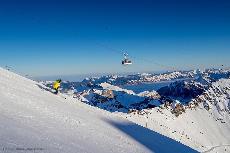 Skifahren am Schilthorn in der Jungfrauregion