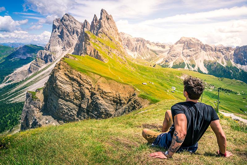 Die perfekte Aussicht: Grödner Dolomiten
