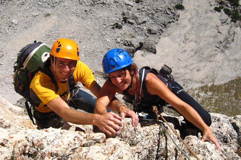 Klettertouren in den Dolomiten