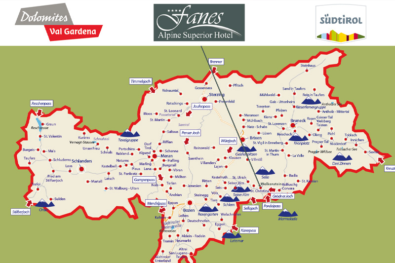 Südtirolkarte
