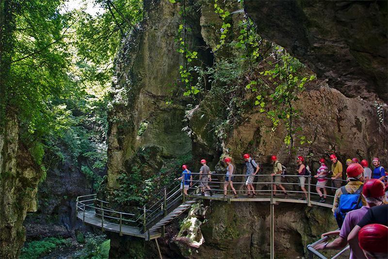 Canyon Rio Sass im Trentino