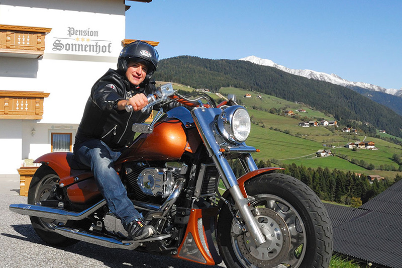 Biker welcome in der 3-Sterne Pension Sonnenhof