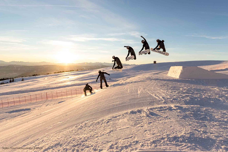 Snowboarden auf dem Ritten