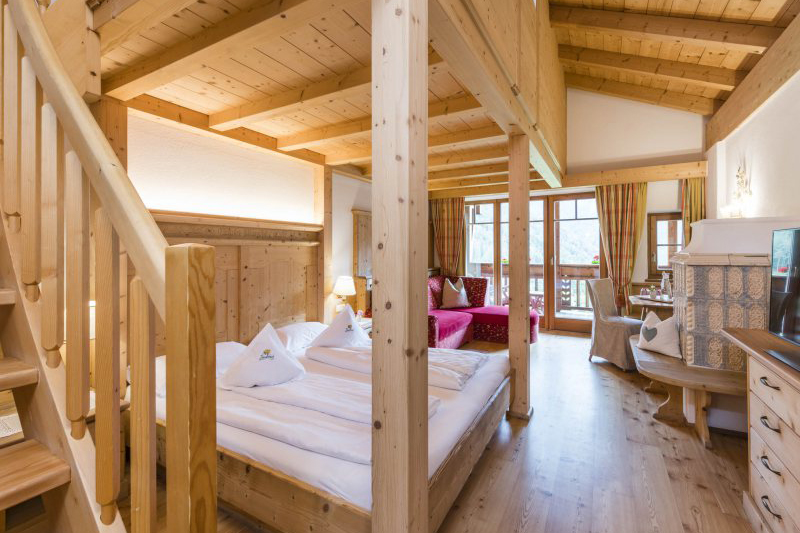 Ebenfalls die Familiensuite Löwenzahn 46m² im Familienhotel Lüsnerhof in Südtirol