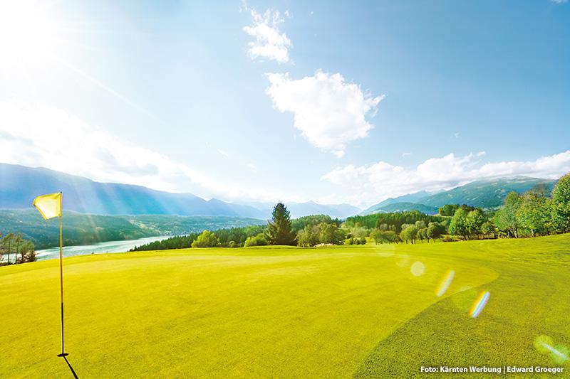 Golfen mit schöner Aussicht