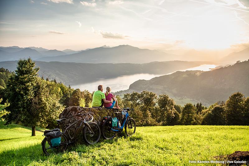 Radfahren und Relaxen