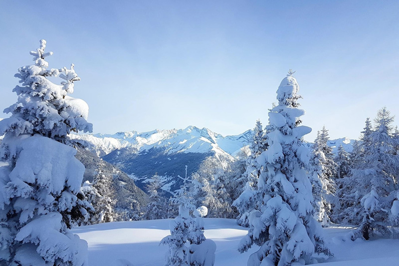 Das wünscht man sich: eine schöne verschneite unberührte Landschaft