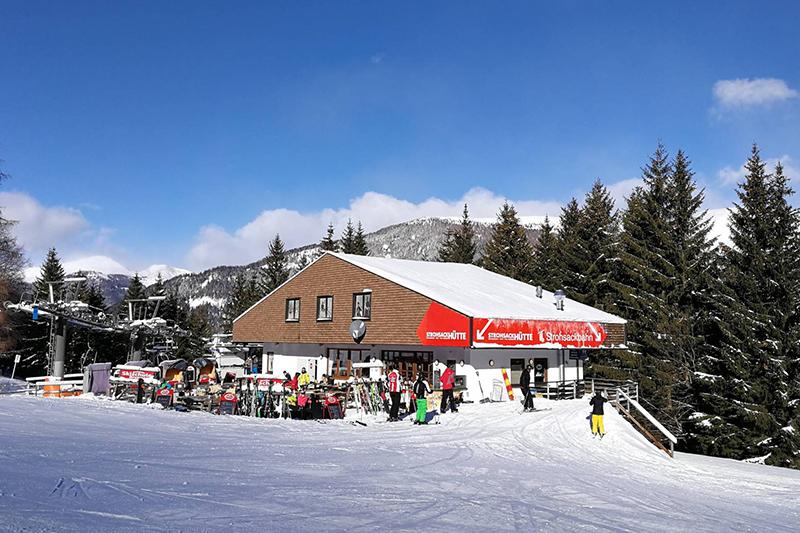 Skihütte in Bad Kleinkirchheim:  die Strohsackhütte