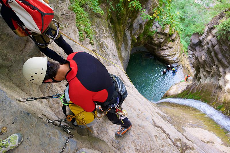 Für Funsport wie Canyoning ist die Berchtesgadener Landschaft bestens geeignet