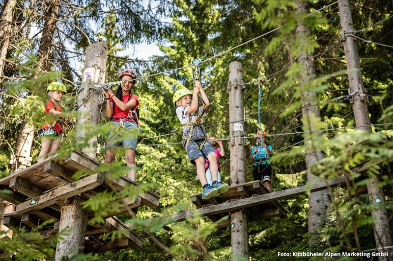 Hornpark - größter Kletterwald der Kitzbüheler Alpen