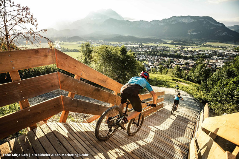 MTB-Trail mit Kaiserblick