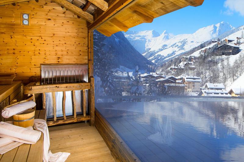 Sauna Aussicht im Winter