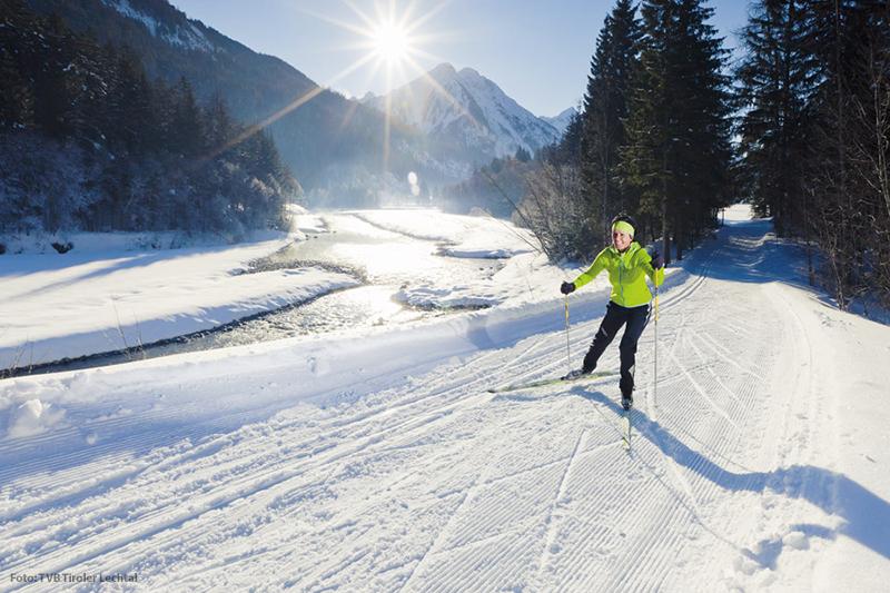 Skifahren im Lechtal