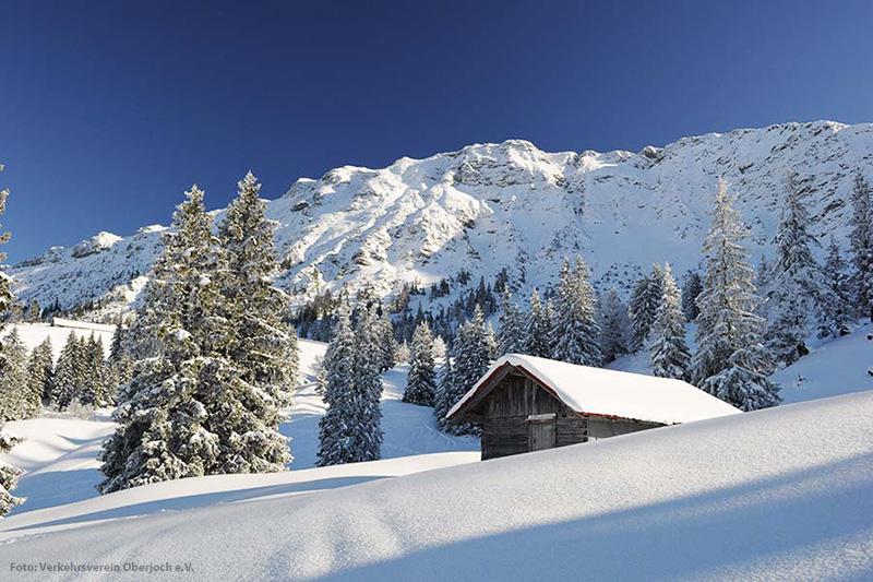 Winterlandschaft im Oberjoch