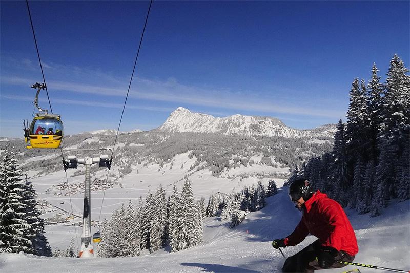 3 Automin. ins Skigebiet Neunerköpfle