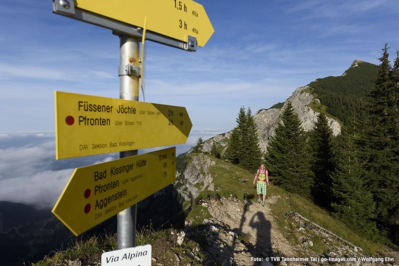 Wandertouren von Grän-Haldensee bis zum Füssener Jöchle
