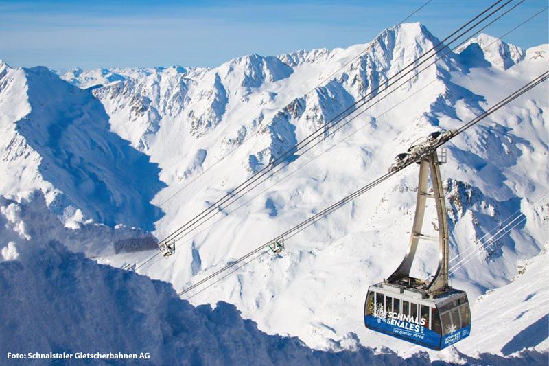 Skigebiet Schnalstaler Gletscher in Südtirol