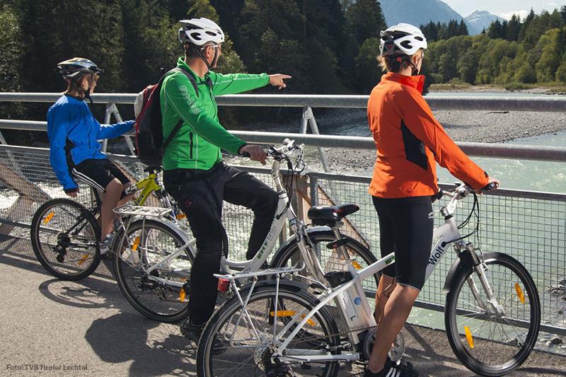 Radfahren im Lechtal