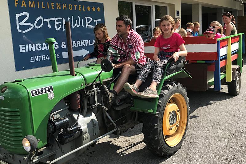 Traktorfahrt mit dem Botenwirt