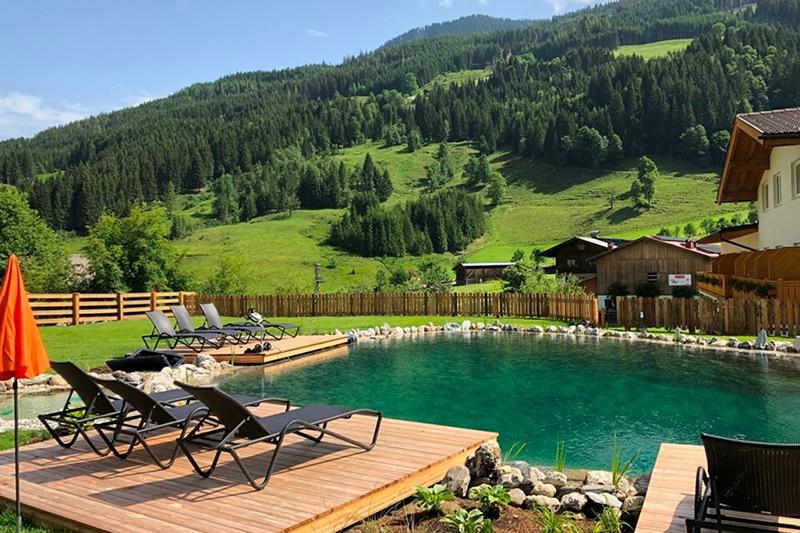Naturschwimmteich vom Hotel