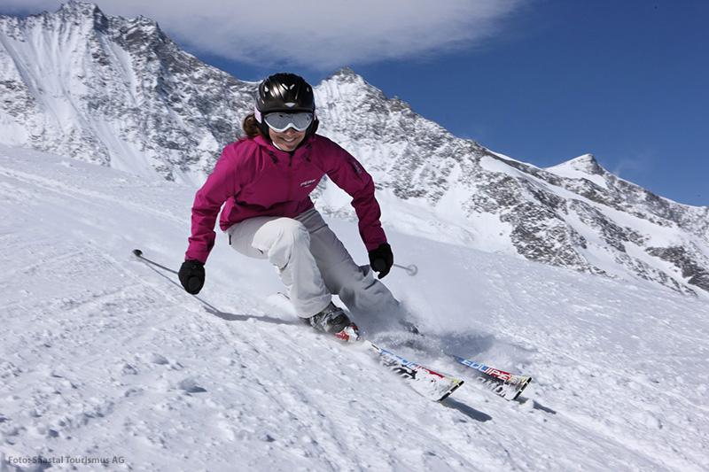 Skifahren in Saas-Fee/ Wallis