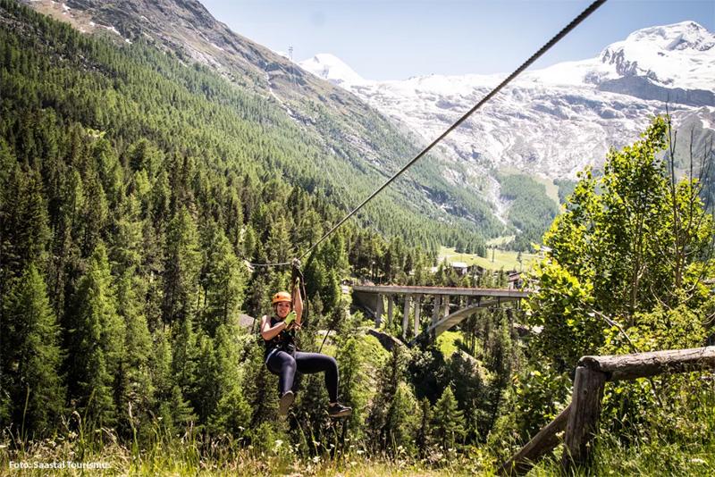 Abenteuerwald in Saas-Fee