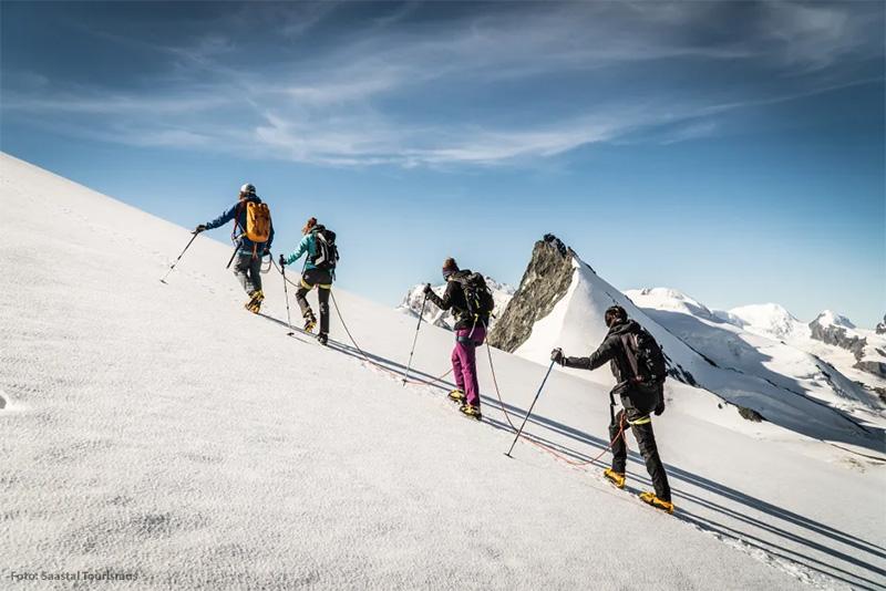 Bergsteigen in Saas-Fee