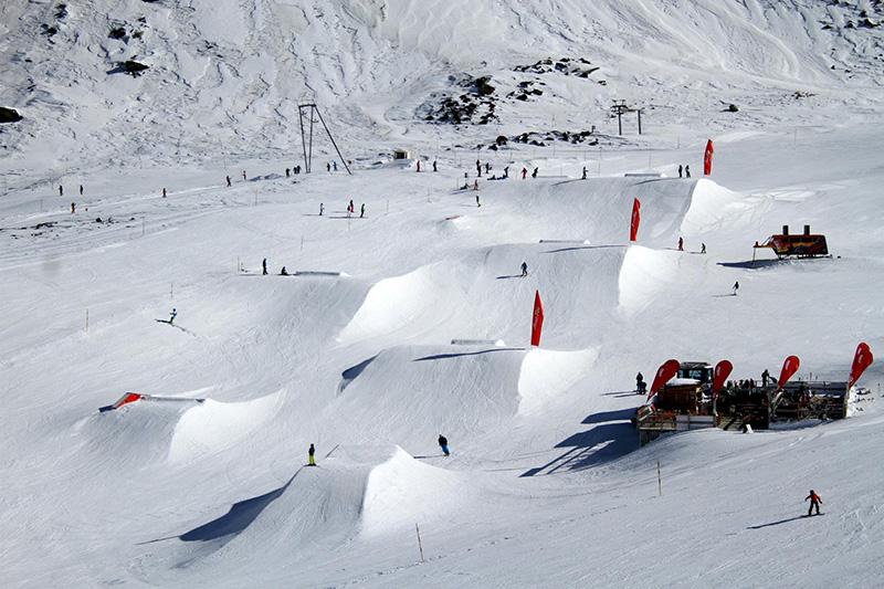 Skifahren in Saas Fee